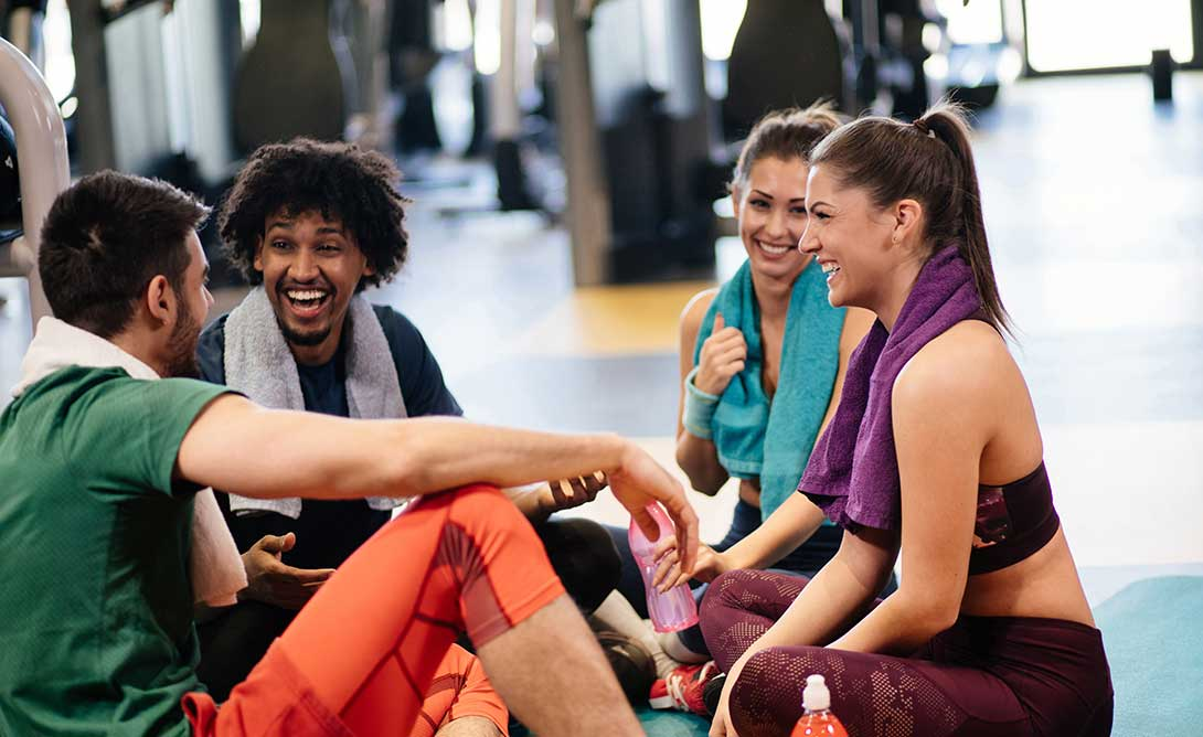 Group of Young People At Gym