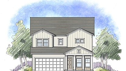 Dream Finders Home Driftwood Elevation B at Tributary