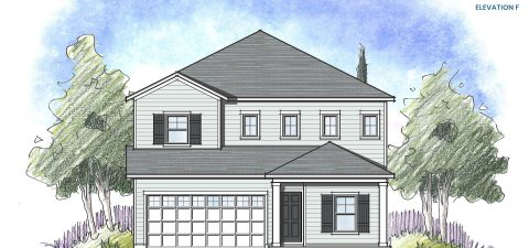 Dream Finders Home Driftwood Elevation F at Tributary