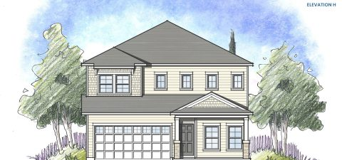 Dream Finders Home Driftwood Elevation H at Tributary