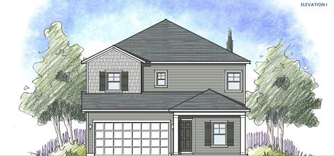 Dream Finders Home Driftwood Elevation I at Tributary