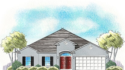 Dream Finders Home Fleming II Elevation A at Tributary