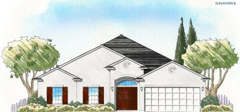 Dream Finders Home Fleming II Elevation B at Tributary