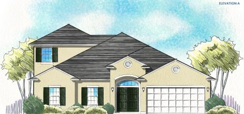 Dream Finders Home Fleming II Bonus Elevation A at Tributary