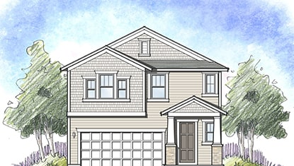 Dream Finders Home Nassau Elevation B at Tributary