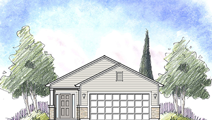 Dream Finders Home Ortega Elevation C at Tributary