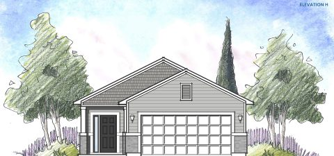 Dream Finders Home Ortega Elevation H at Tributary