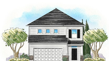 Dream Finders Home Timuquana Elevation B at Tributary