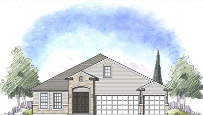 Dream finder homes avalon I, Elevation B at Tributary