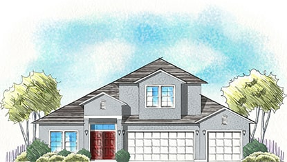 Dream Finders Home Boca II Elevation A at Tributary