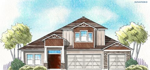 Dream Finders Home Boca II Elevation  D at Tributary