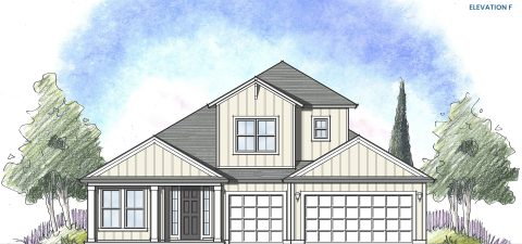 Dream Finders Home Boca II Elevation  F at Tributary