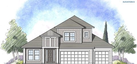 Dream Finders Home Boca II Elevation  G at Tributary