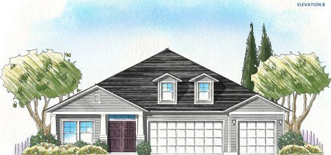 Dream Finders Home Boca Elevation  B at Tributary