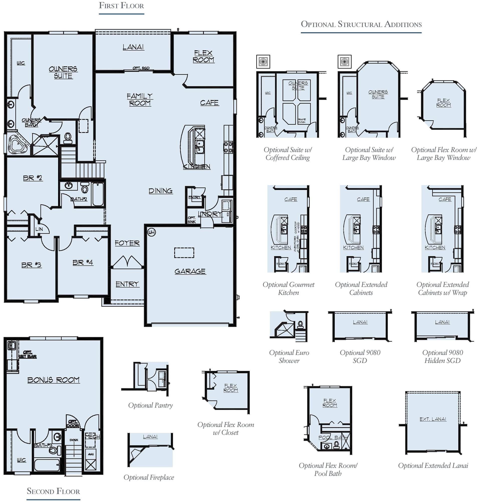 Dream Finders Home Fleming II Bonus Floorplan at Tributary
