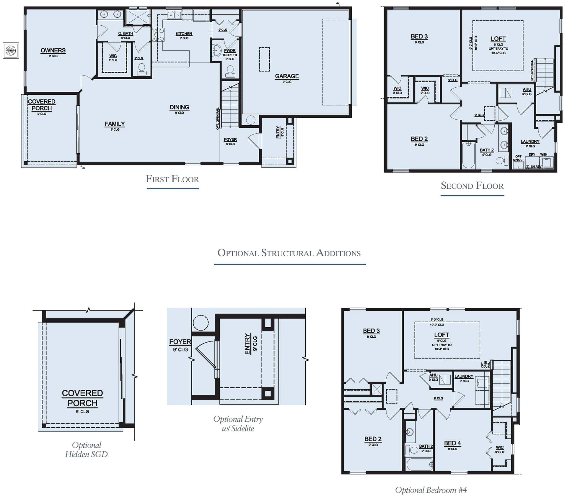 Dream Finders Home Stockton Floorplan at Tributary