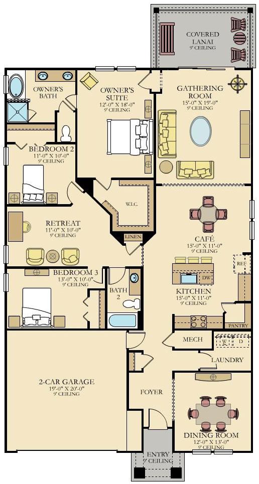 Lennar Home Charle Floorplan at Tributary