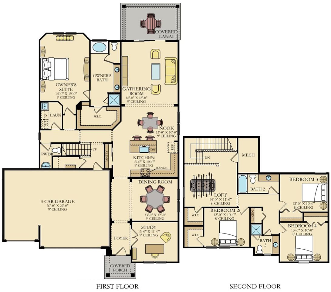 Lennar Home Ermont III Floorplan at Tributary