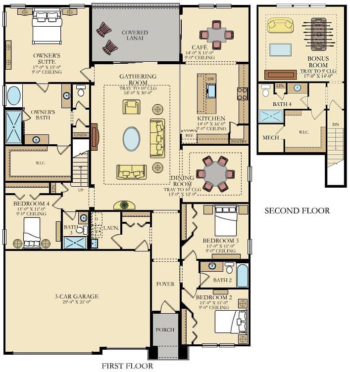 Lennar Home Medallion Bonus Floorplan at Tributary