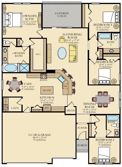 Lennar Home Tivoli Floorplan at Tributary