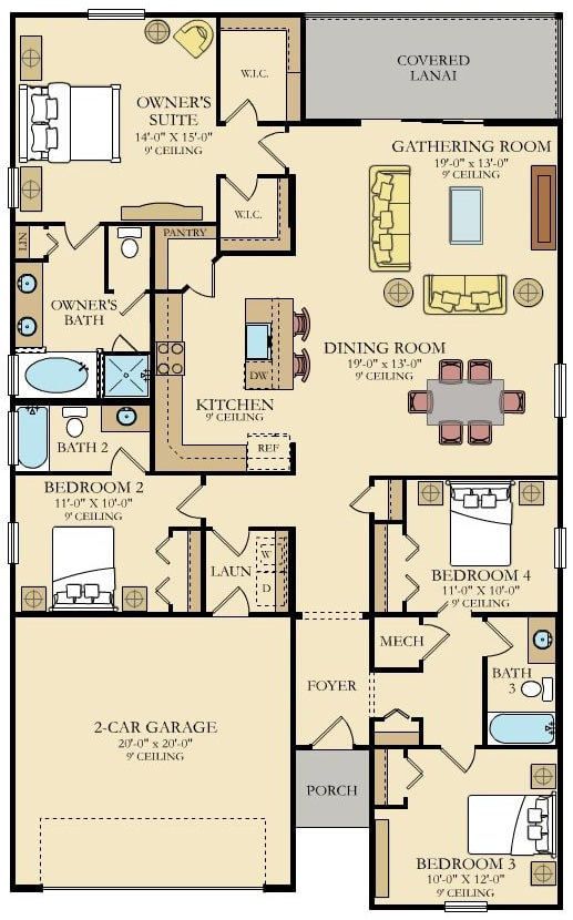 Lennar Home Trevi Floorplan at Tributary