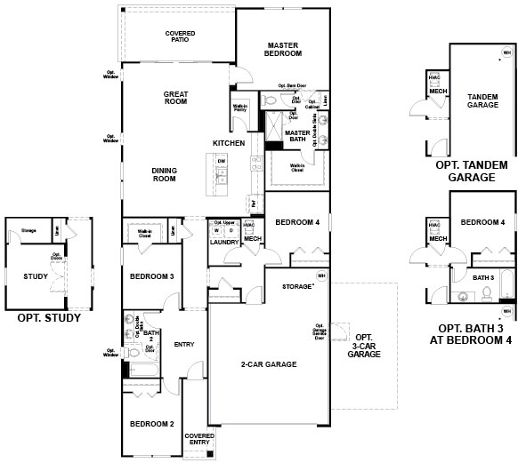Richmond American Larimar Floorplan at Tributary