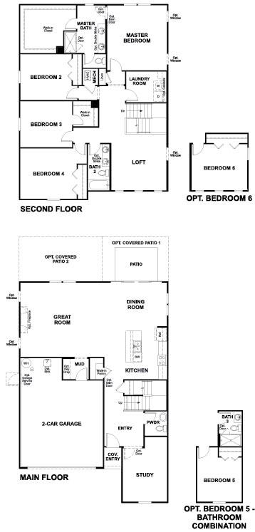 Richmond American Moonstone Floorplan at Tributary