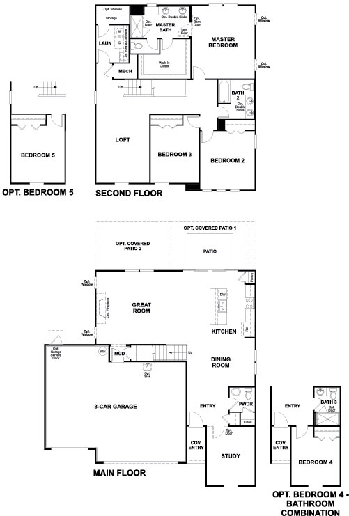 Richmond American Pearl Floorplan at Tributary