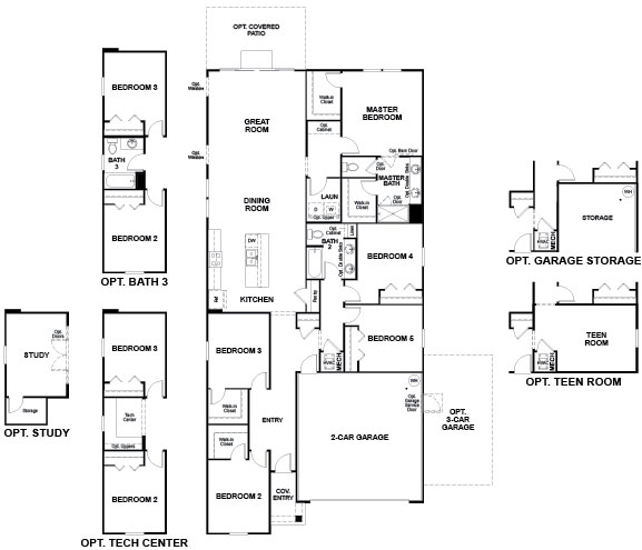 Richmond American Sapphire Floorplan at Tributary
