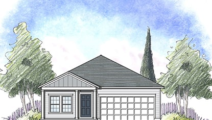 illustration of dream finders model home sweetwater elevation b