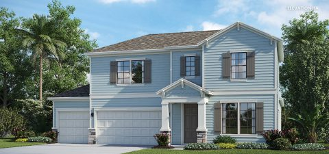 Lennar Home Ermont III Elevation HA at Tributary