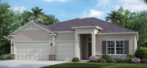 Lennar Home Medallion Elevation HB at Tributary