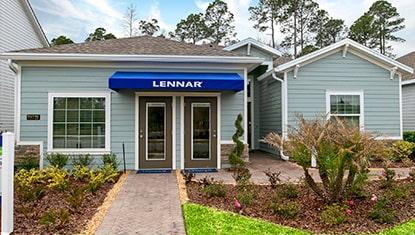 Lennar Trevi model home exterior elevation at tributary thumbnail