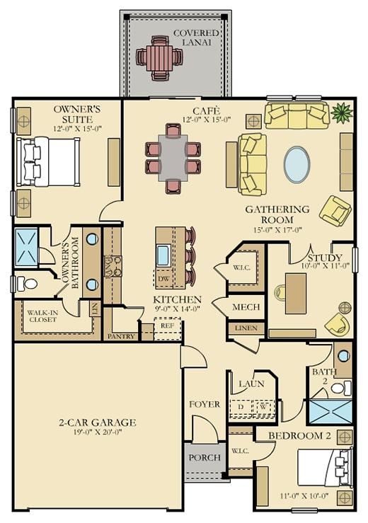 tributary lakeview home elan floorplan