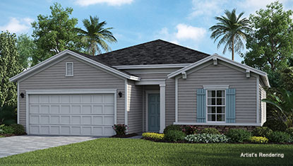 exterior thumbnail of the elan model home at lakeview tributary