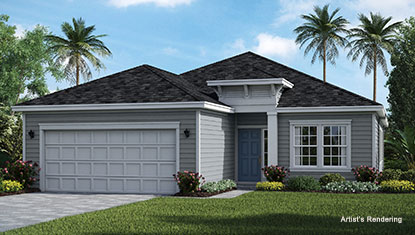 exterior thumbnail of halle model home at lakeview tributary
