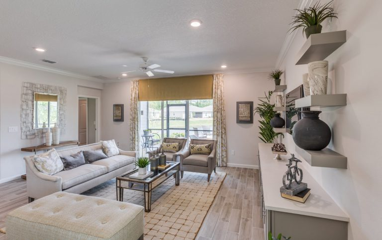 lennar trevi furnished family room at Tributary