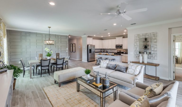 lennar trevi furnished great room at Tributary