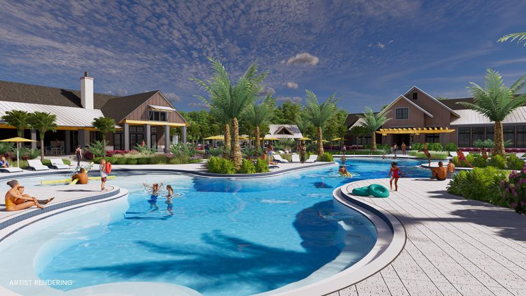 tributary lookout amenity center pool rendering