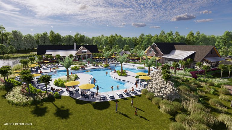 tributary amenity center pool rendering