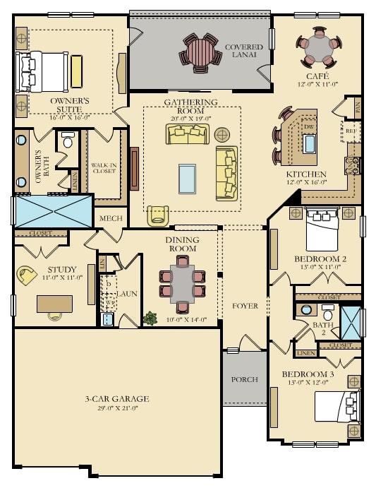 tributary princeton 55 plus floorplan